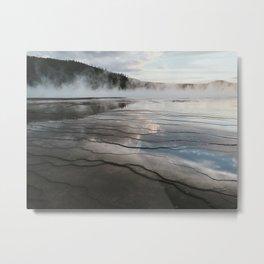 Sunset Grand Prismatic Spring, Yellowstone National Park, Wyoming Metal Print