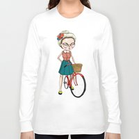 hipster Long Sleeve T-shirts featuring Hipster by Maripili