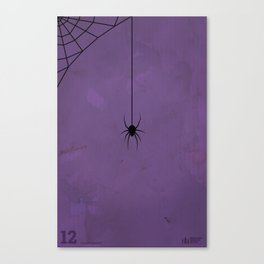 """Spider"" Halloween Poster Canvas Print"