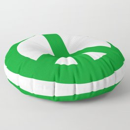 Green Peace Sign, Power of Peace, Power of Love, Social Justice Warrior, Super Sharp PNG Floor Pillow