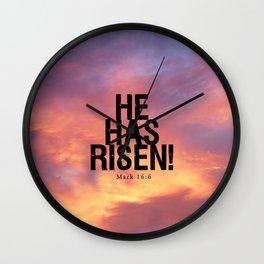 He Has Risen - Bible Lock Screens Wall Clock