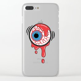 Bloody Eyeball Clear iPhone Case