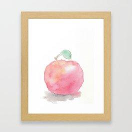 Watercolor Apple Framed Art Print