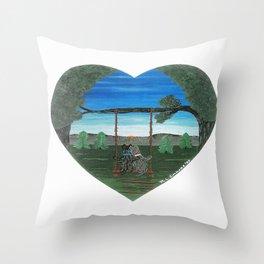 Sunset Sweethearts - Scotties - Scottish Terriers Throw Pillow