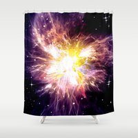 shining Shower Curtains featuring SHINING STAR. by capricorn