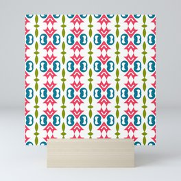 Print with design stylish seamless patterns. Beautiful modern fashion textures with colors ornament Mini Art Print