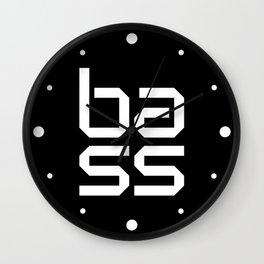 Bass Block Music Quote Wall Clock