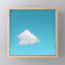 Happy Cloud Framed Mini Art Print