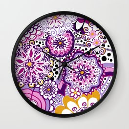 Flower Power! Wall Clock