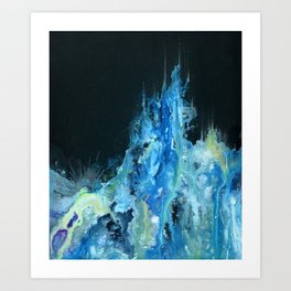 Twin Caverns (Abstract Painting) Art Print