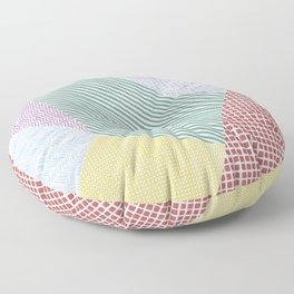 Chalk Patterns Floor Pillow