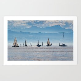 Sailboats (Lake Constance, Germany) Art Print