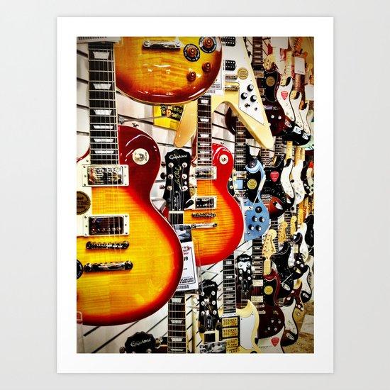 Musical Guitars Art Print