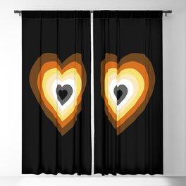 Bear Heart Blackout Curtain