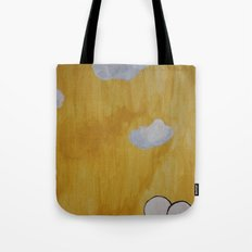 Plant with Yellow Sky Tote Bag