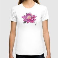 lotus flower T-shirts featuring Lotus by Art by Risa Oram