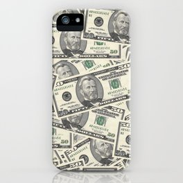 Collage of Currency Graphic iPhone Case