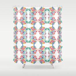 Mambo Wallpaper Shower Curtain