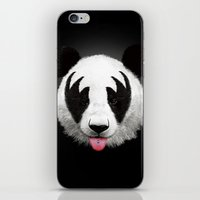 brazil iPhone & iPod Skins featuring Kiss of a panda by Robert Farkas