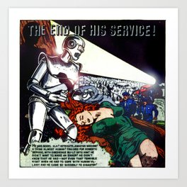 THE END OF HIS SERVICE (1940) Art Print