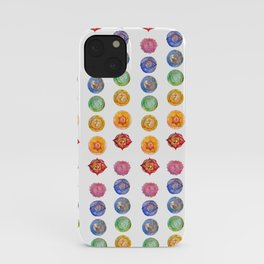 Seven Chakra alligned Watercolor art iPhone Case