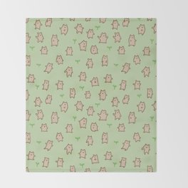 Tiny Bears Pattern Throw Blanket