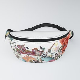 Floral illustration with field flowers  in vintage style Fanny Pack
