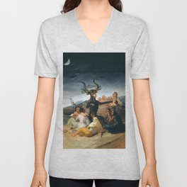 THE SABBATH OF THE WITCHES - GOYA Unisex V-Neck