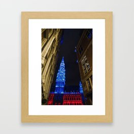Christmas in Brussels Framed Art Print