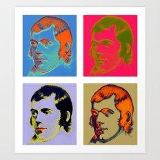 Warhol Burns Art Print