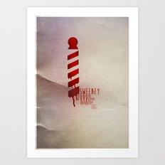 Sweeney Todd - Minimal Musicals Art Print
