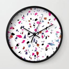 Autumnal Terrazzo Wall Clock