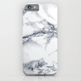 Marble - Blue iPhone Case