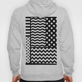 Mixed Patterns (Horizontal Stripes/Polka Dots/Wavy Stripes/Chevron/Checker) Hoody