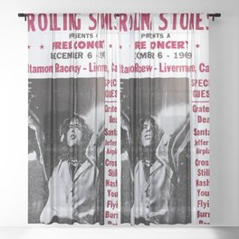 Vintage Rolling Stones free concert at Altamont Raceway, Livermore, California, December 6, 1969 Sheer Curtain