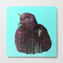 Disco pigeon unicorn Metal Print