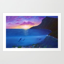 Sea of life Art Print