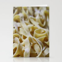 pasta Stationery Cards featuring Pasta Mountain by Bizzy Huthers