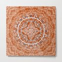 Detailed Burnt Orange Mandala by laurelmae