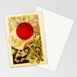 Japanese Ginkgo Hand Fan Vintage Illustration Stationery Cards