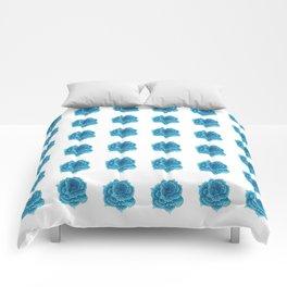 Roses aren't blue, Pointillism Rose Comforters