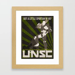 Halo 4 UNSC Weathered Recruitment Poster Framed Art Print