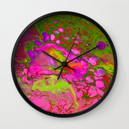 Pink Acid Wall Clock