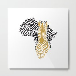 African Tribal Pattern No. 43 Metal Print