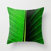 leaf Throw Pillows featuring Leaf by Melanie Ann