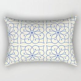 Fashion Flower Pattern Art Print Rectangular Pillow