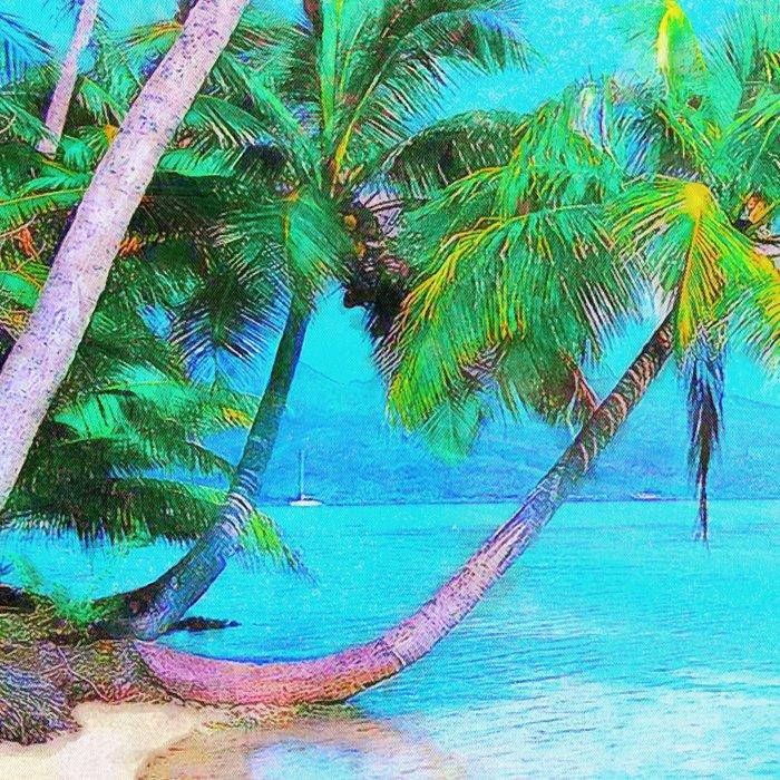 Palms on the Bay Leggings