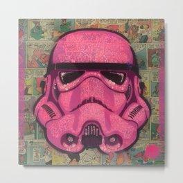 Trooper Pink Metal Print