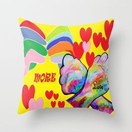 ASL More Love! Throw Pillow