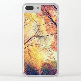 Autumn Embrace Clear iPhone Case